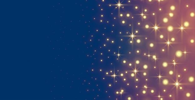 Glühende funkeln und sterne feiertagsbanner Kostenlosen Vektoren