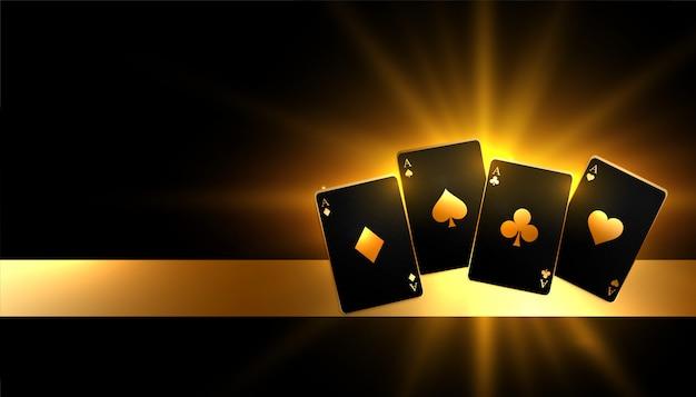 Glühender goldener zahlender kartenkasinohintergrund Kostenlosen Vektoren