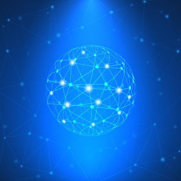 Glühendes netzwerk zeichen Kostenlosen Vektoren