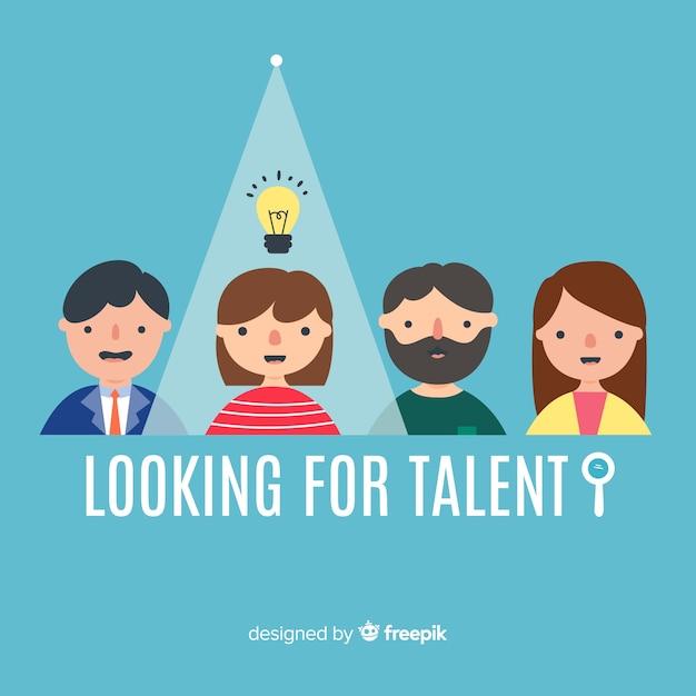 Glühlampe, die talenthintergrund sucht Kostenlosen Vektoren