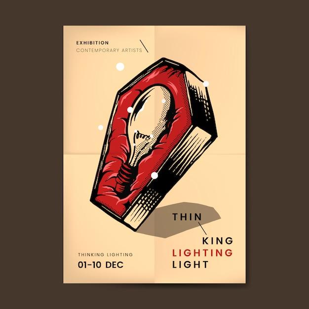 Glühlampe im sargvektor Kostenlosen Vektoren