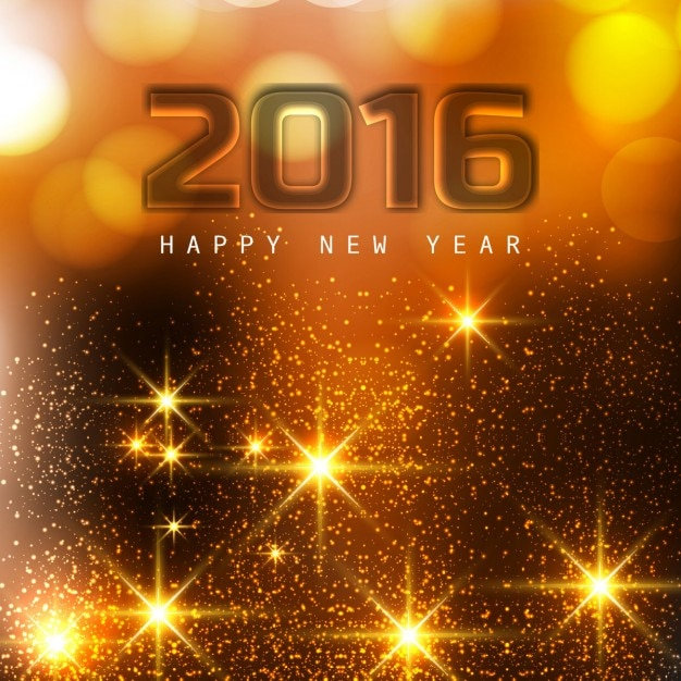 Glühende glückliches neues Jahr 2016 Gruß | Download der kostenlosen ...