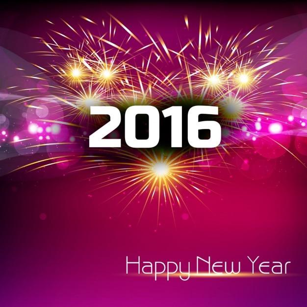 Glühende neue Jahr 2016-Karte mit Feuerwerk | Download der ...