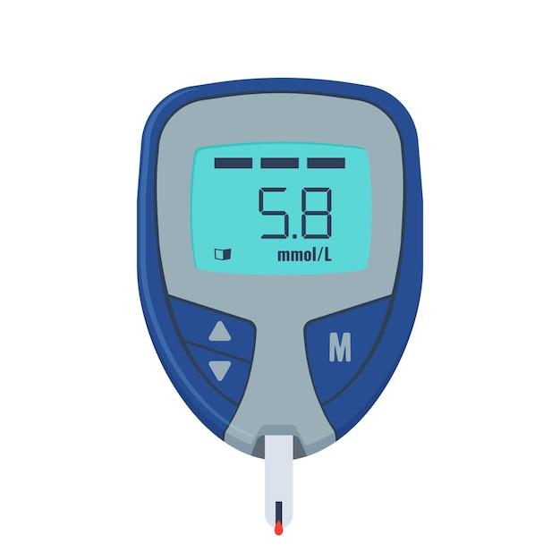 Glukosetest. medizinprodukt zur messung von zucker im blut. Premium Vektoren
