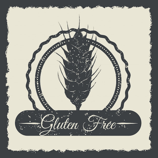 Gluten-frei Premium Vektoren