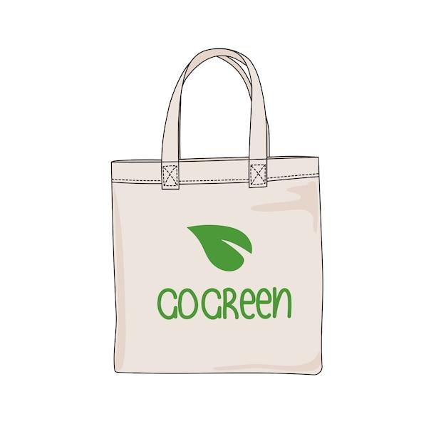 Go green ökologisches problem drucken Premium Vektoren