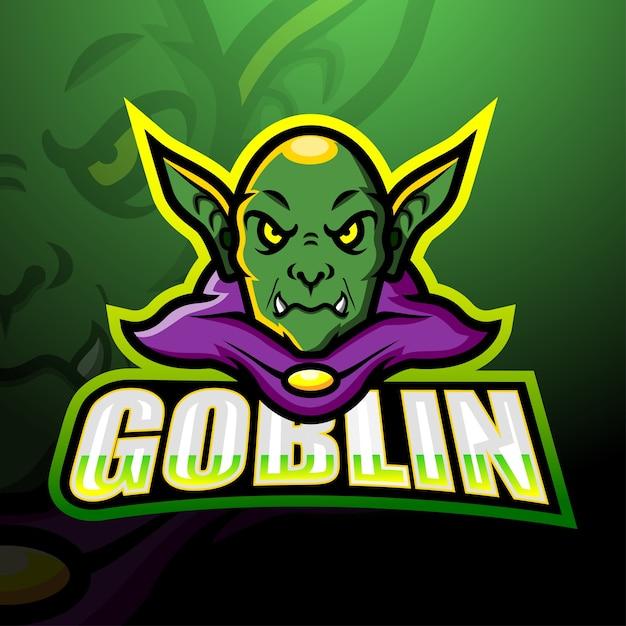 Goblin maskottchen esport illustration Premium Vektoren