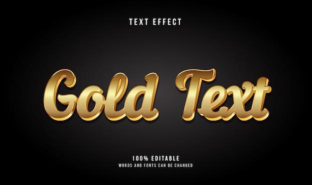 Gold 3d modern style texteffekt Premium Vektoren