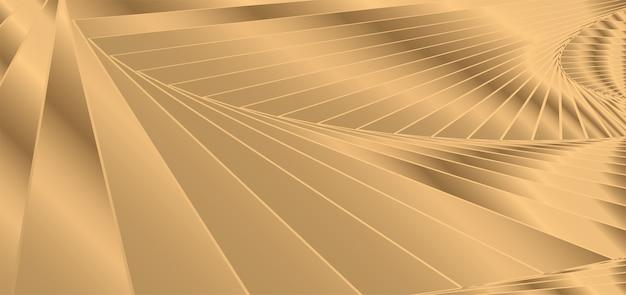 Gold abstrakten hintergrund. goldene wellenlinien. Premium Vektoren