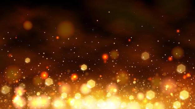 Gold-bokeh abstrakte banner hintergrund Premium Vektoren