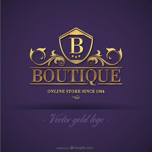Gold boutique-logo-design Kostenlosen Vektoren