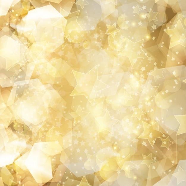 Gold-glitter bakcground mit sternen Kostenlosen Vektoren