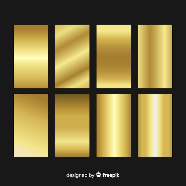 Gold-gradientensammlung Kostenlosen Vektoren