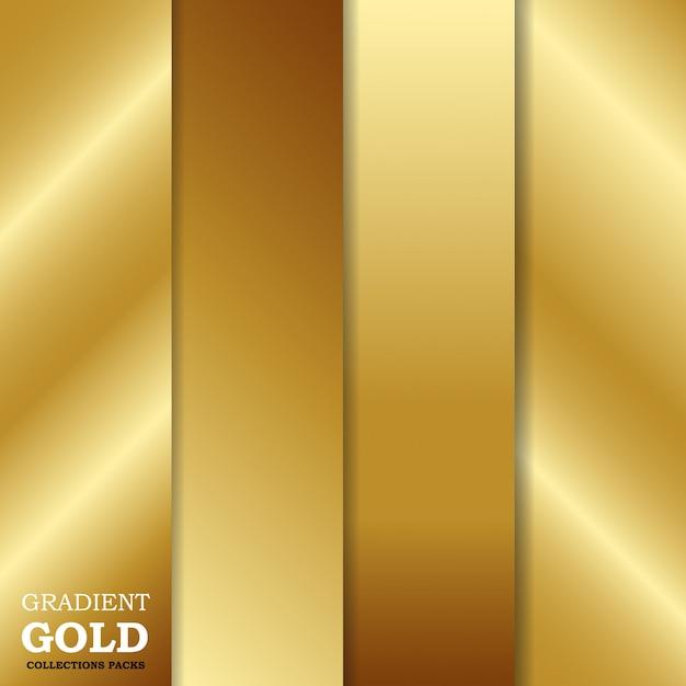 Gold hintergrund mit farbverlauf festlegen Premium Vektoren