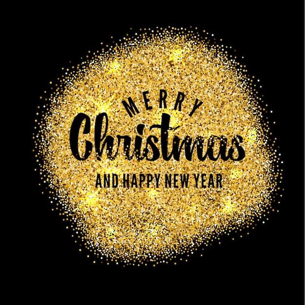 Frohe Weihnachten Gold.Gold Hintergrund Mit Schriftzug Für Frohe Weihnachten Und Guten
