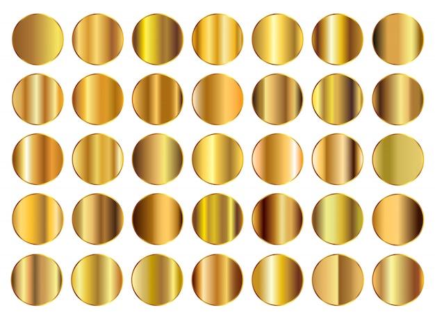 Gold hintergrundsammlung Premium Vektoren