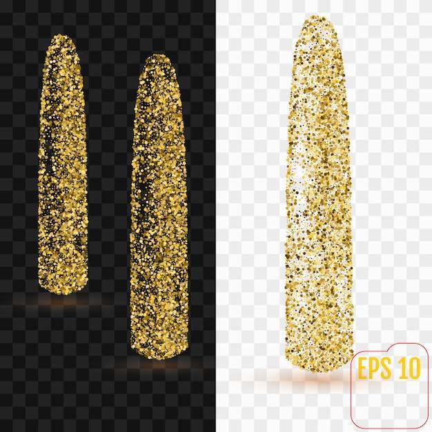 Gold konfetti dildo Premium Vektoren