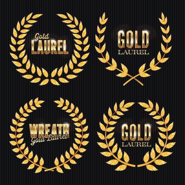 Gold laurel Premium Vektoren