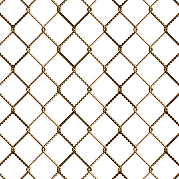 Gold maschendrahtzaun Premium Vektoren