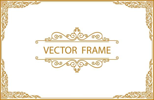 Gold-rahmen-design Premium Vektoren