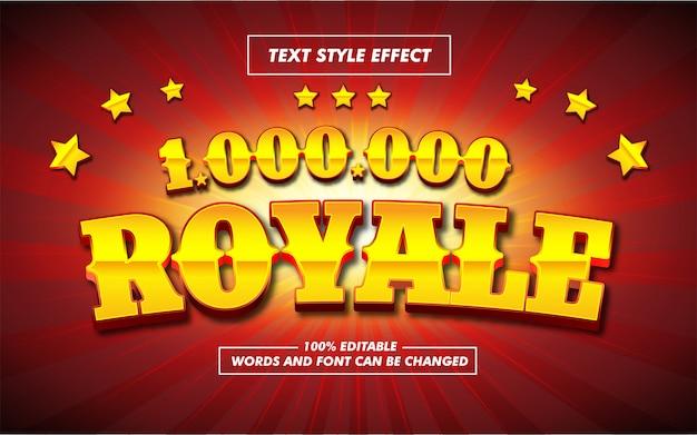 Gold royale bold text style-effekt Premium Vektoren
