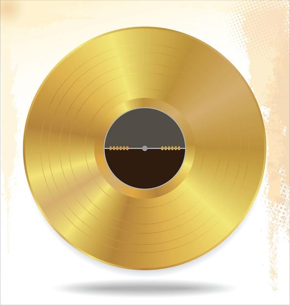 Gold-schallplatte Premium Vektoren