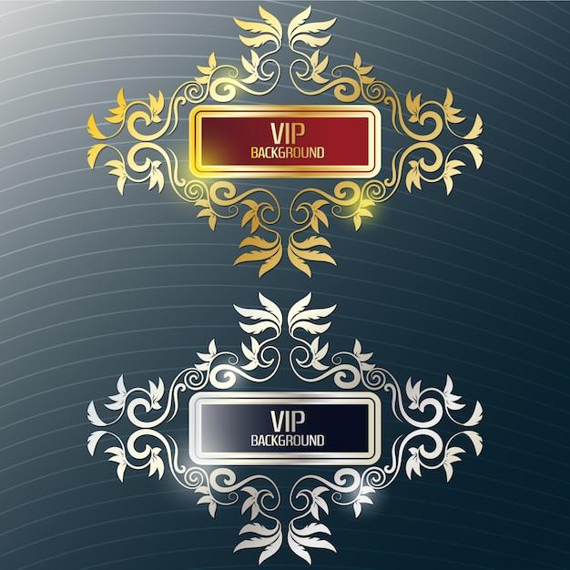 Gold und Silber Hintergrund Design Kostenlose Vektoren