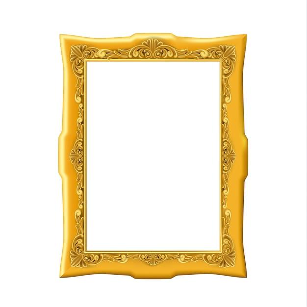 Gold vintage bilderrahmen Premium Vektoren