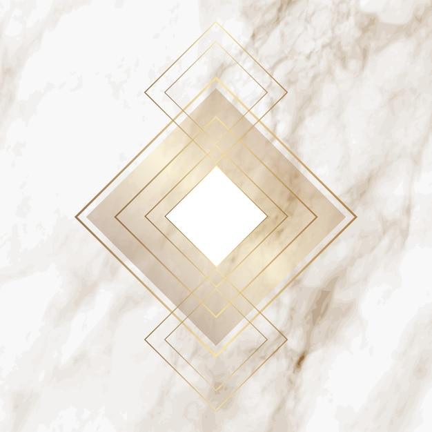 Golddiamantmuster auf eleganter Marmorbeschaffenheit Kostenlose Vektoren