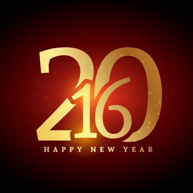 Golden 2016 Neues Jahr-Gruß | Download der kostenlosen Vektor