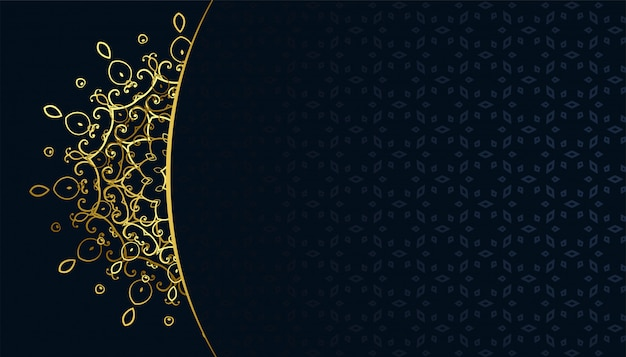 Golden arabeqsue mandala muster arabis stil hintergrund Kostenlosen Vektoren