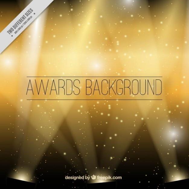 Golden awards hintergrund Kostenlosen Vektoren
