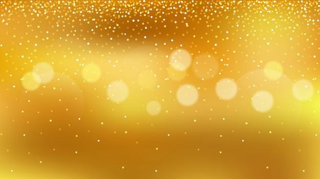 Golden glitter, gold bokeh zum feiern Premium Vektoren