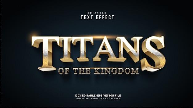 Golden titans texteffekt Kostenlosen Vektoren