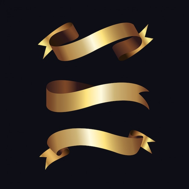 Goldene aufkleber mit goldenem rahmen über beige Premium Vektoren