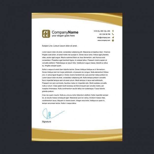 Goldene Briefkopf Vorlage Download Der Kostenlosen Vektor