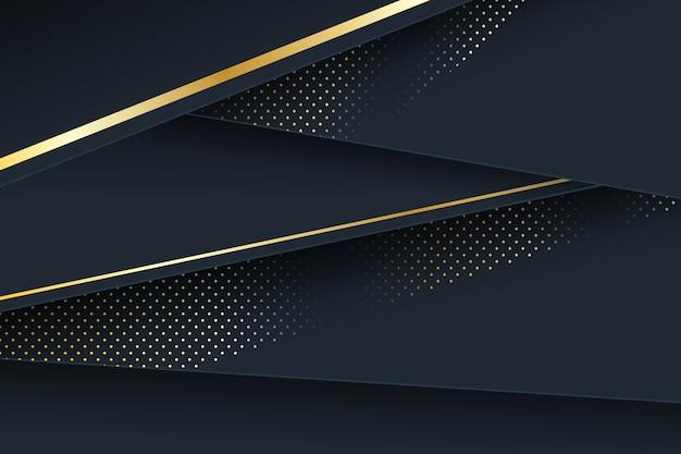 Goldene details über hintergrund der dunklen papierschichten Kostenlosen Vektoren
