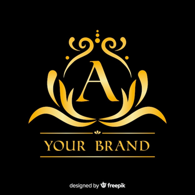 Goldene elegante logo-vorlage Kostenlosen Vektoren