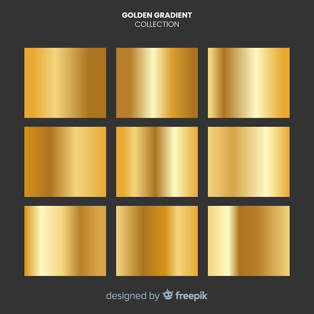 Goldene farbverlaufssammlung Kostenlosen Vektoren
