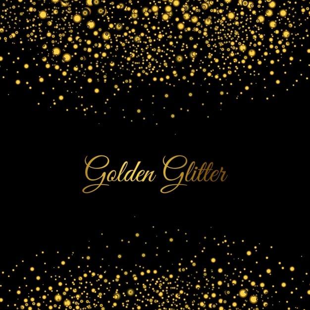 Goldene glitzert hintergrund Kostenlosen Vektoren