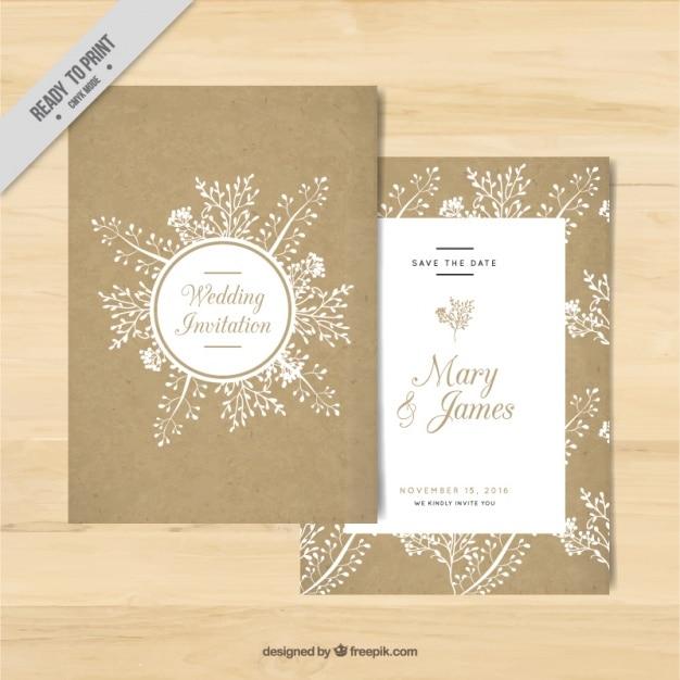 Goldene Hochzeit Einladung Mit Floralen Elementen