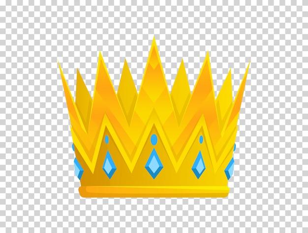 Goldene krone-symbol. kronenpreise für sieger, champions, führungskräfte Premium Vektoren