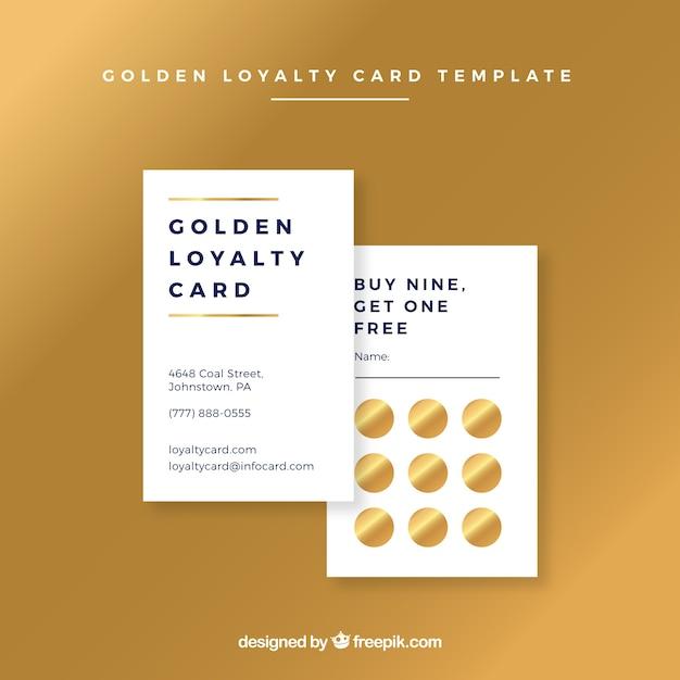 Goldene kundenkartenvorlage Kostenlosen Vektoren