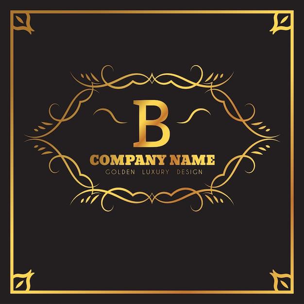 Goldene Logo Vorlage. Buchstabe Emblem des Monogramm B. | Download ...