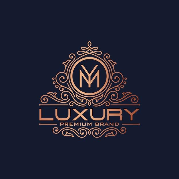 Goldene luxus-logo-design-vektor-schablone Premium Vektoren