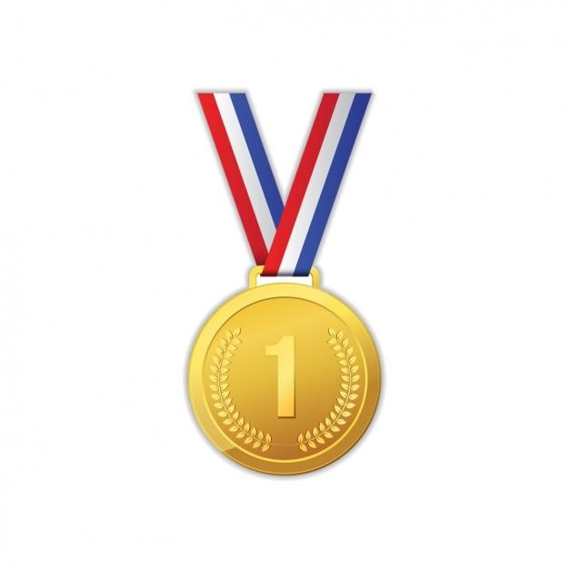 Goldene medaille design Kostenlosen Vektoren