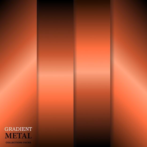 Goldene metall hintergrund mit farbverlauf Premium Vektoren
