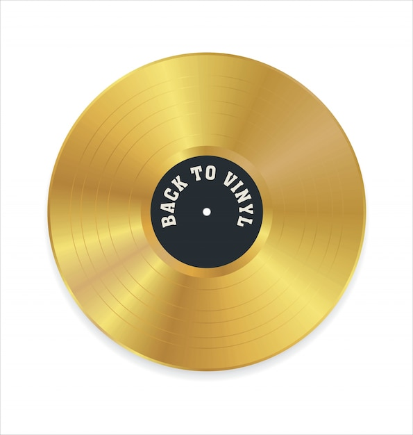 Goldene Schallplatte Premium Vektor