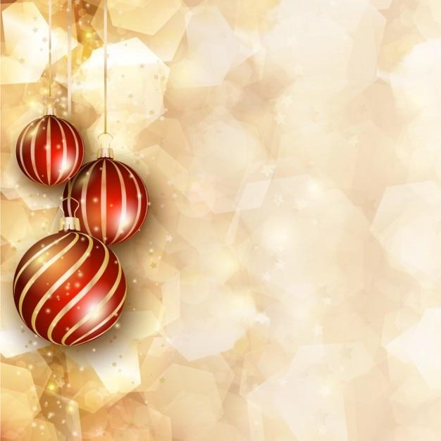 goldene weihnachten hintergrund mit kugeln download der. Black Bedroom Furniture Sets. Home Design Ideas