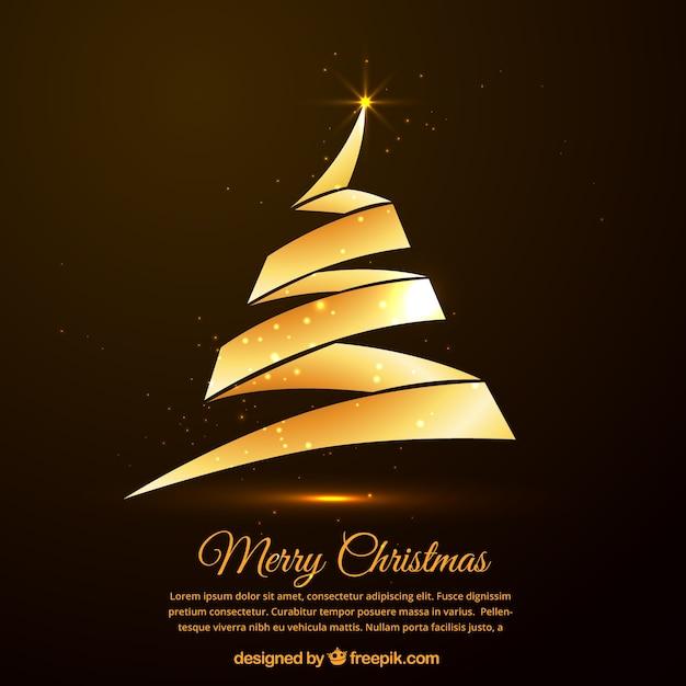 goldene weihnachtsbaum karte download der premium vektor. Black Bedroom Furniture Sets. Home Design Ideas